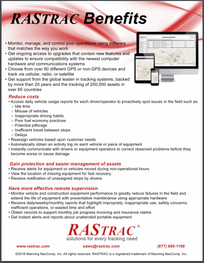 Benefits of RASTRAC Feature Sheet
