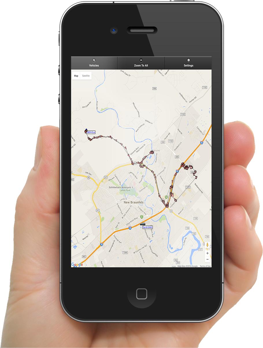 Rastrac GPS Tracking on Mobile